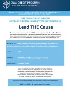 Lead THE Cause dual credit course flyer